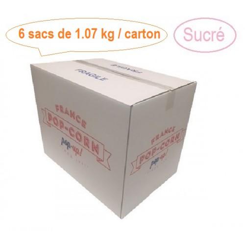 Pop-corn sucré vrac 6 x 1.07 kg