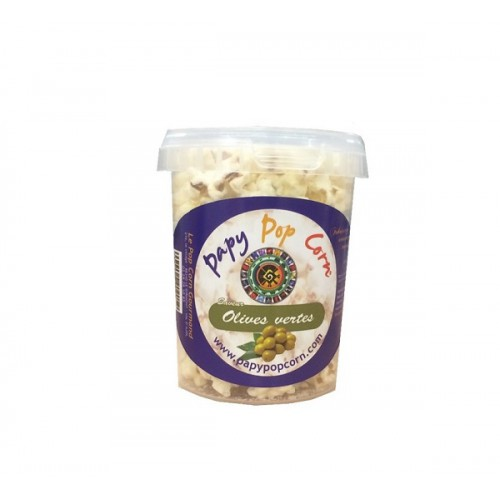 Pop-corn saveur olives vertes