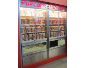 Vitrines et warmers pop-corn inox