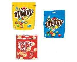 Chocolats billes, cubes, barres